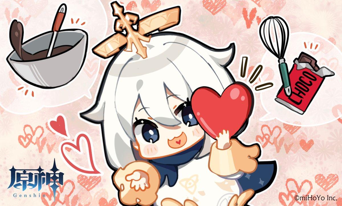 【原神】今年のバレンタインは、「刻晴」と「甘雨」。去年は「パイモン」。去年!?